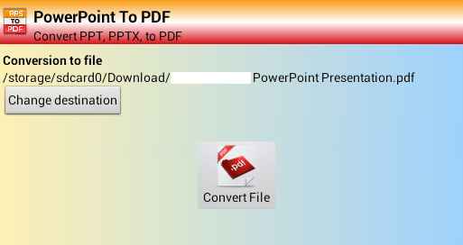 how to convert pptx to pdf on android