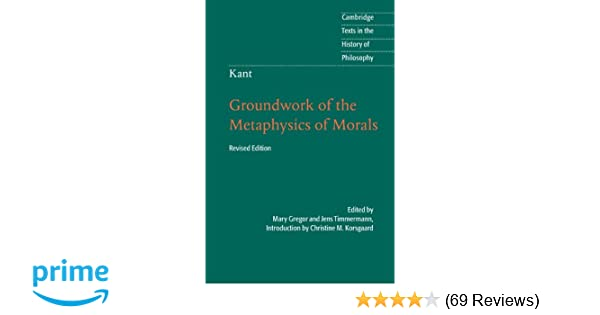 groundwork of the metaphysics of morals pdf
