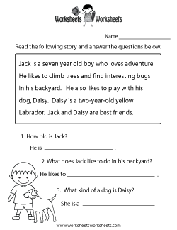 french reading comprehension worksheets pdf