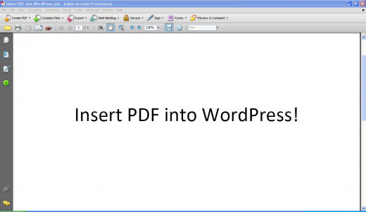 how to insert a pdf in wordpress