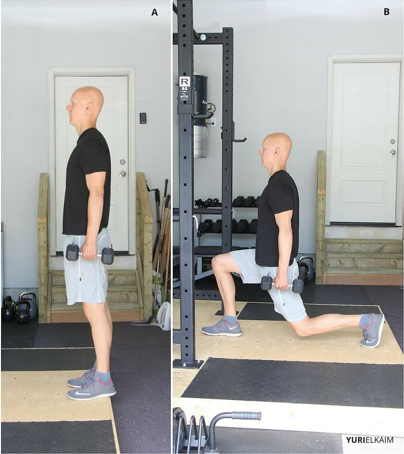 lunge dumbbell walking video guide