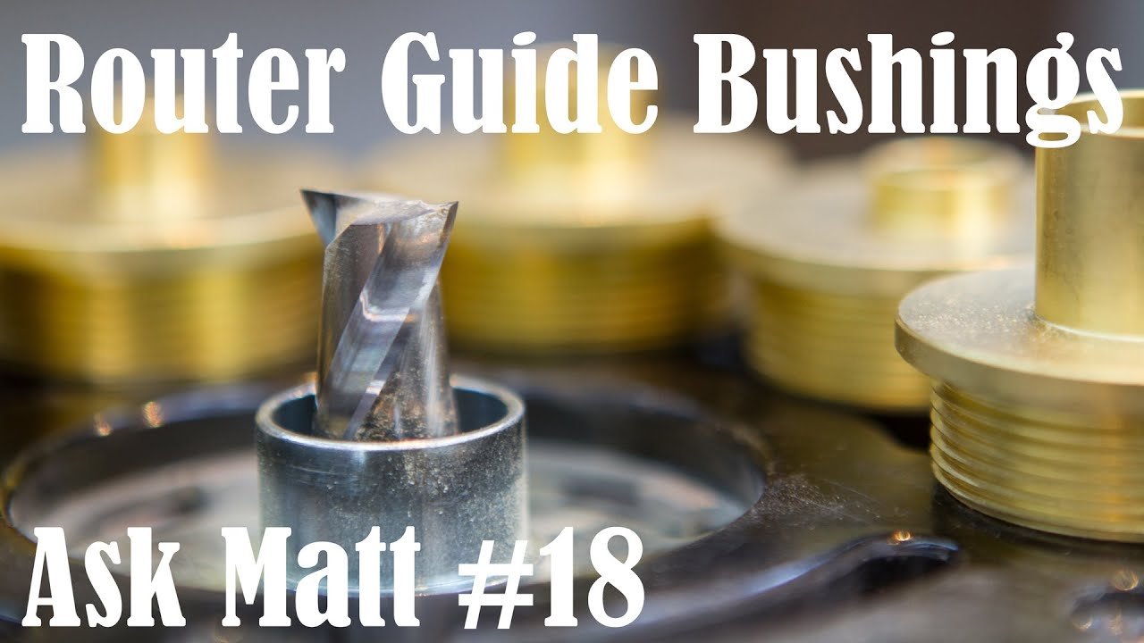 how to install a router guide bushing