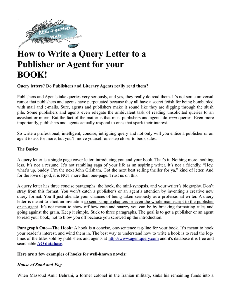 letter to a publisher sample