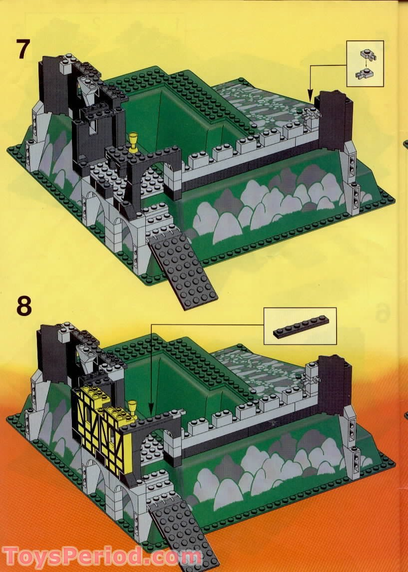 lego knights castle instructions