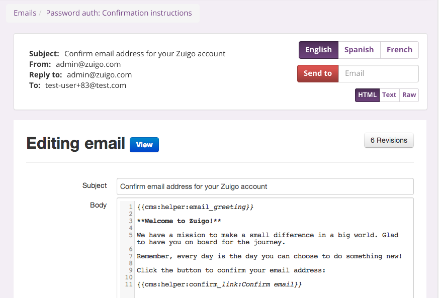 email client within a rails application
