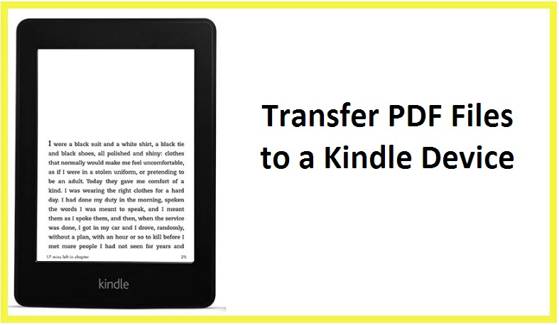 how to transfer pdf to kindle