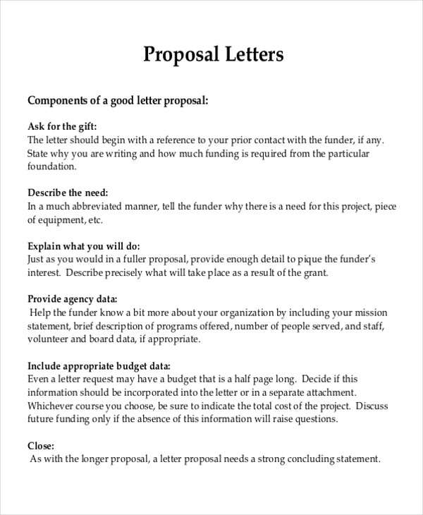 how to write a project proposal letter pdf