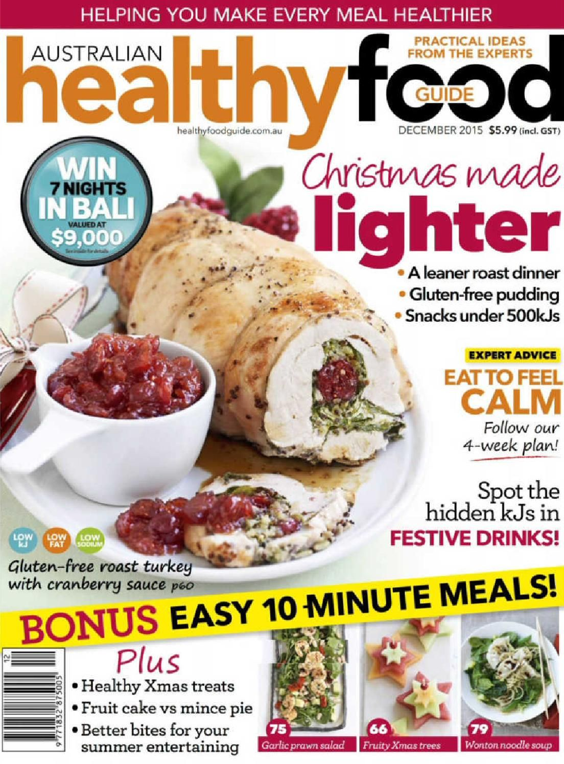 healthy food guide magazine recipes