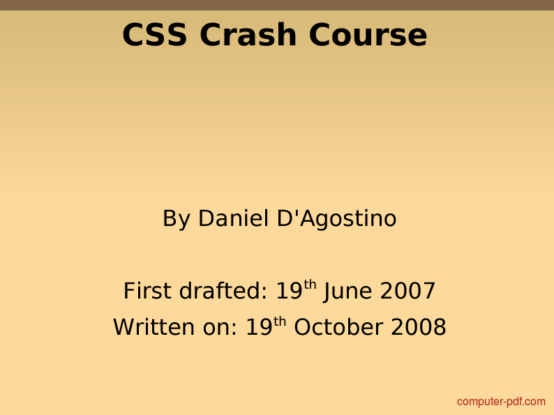 introduction to css pdf