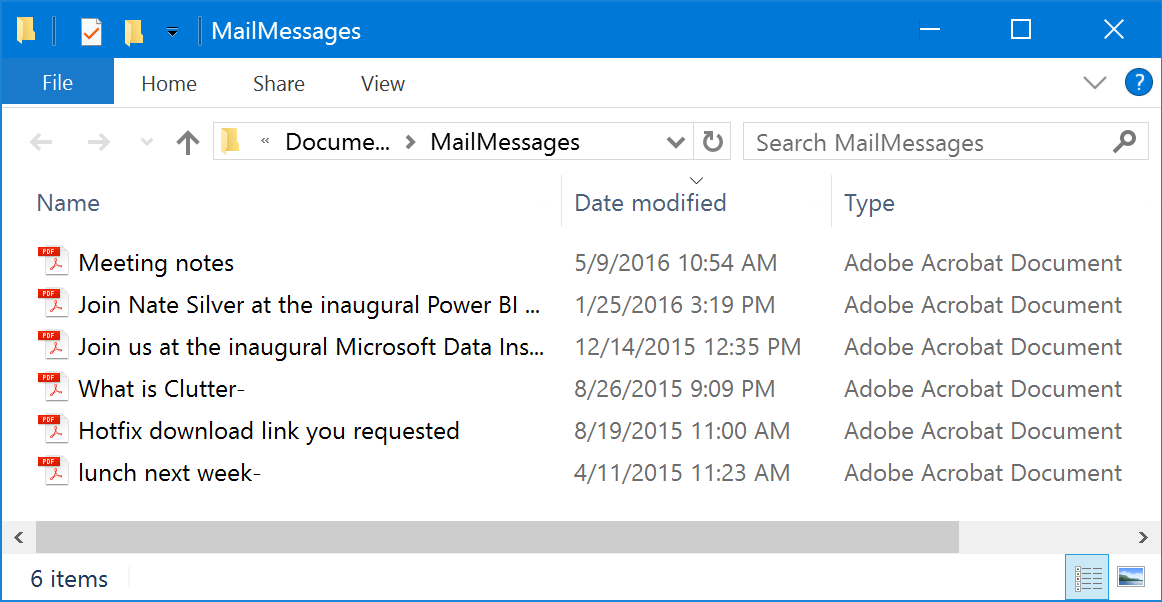 how do i save a hotmail email as a pdf