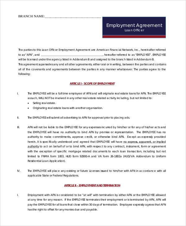 employee commission agreement sample