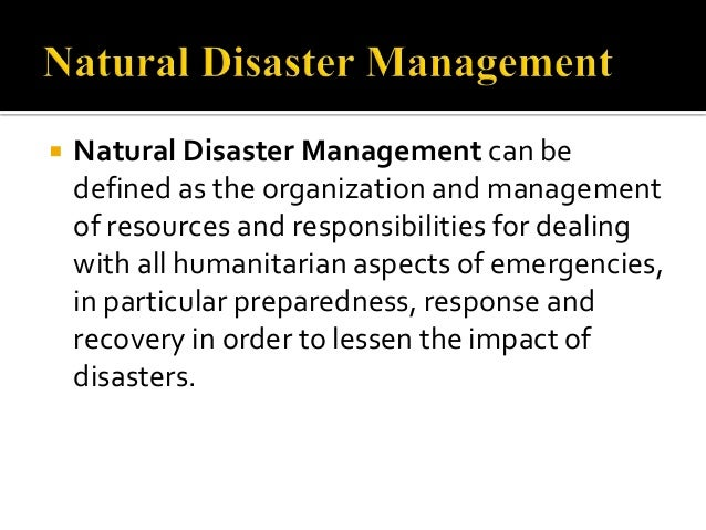 effect of disaster on human life pdf
