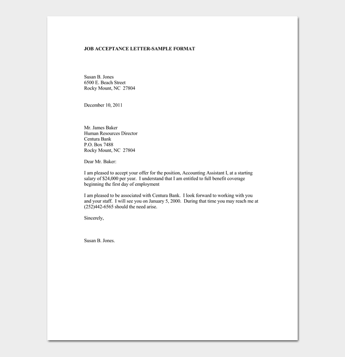 email sample for accepting job offer