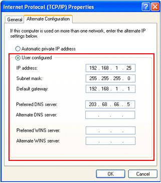 how to set manual ip addresses for windows pcs