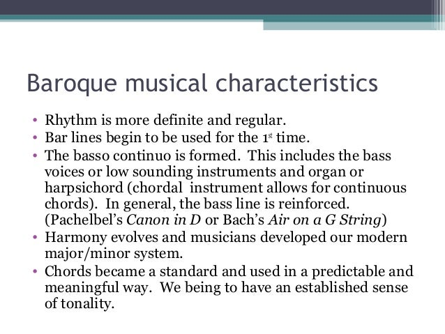 features of baroque music pdf