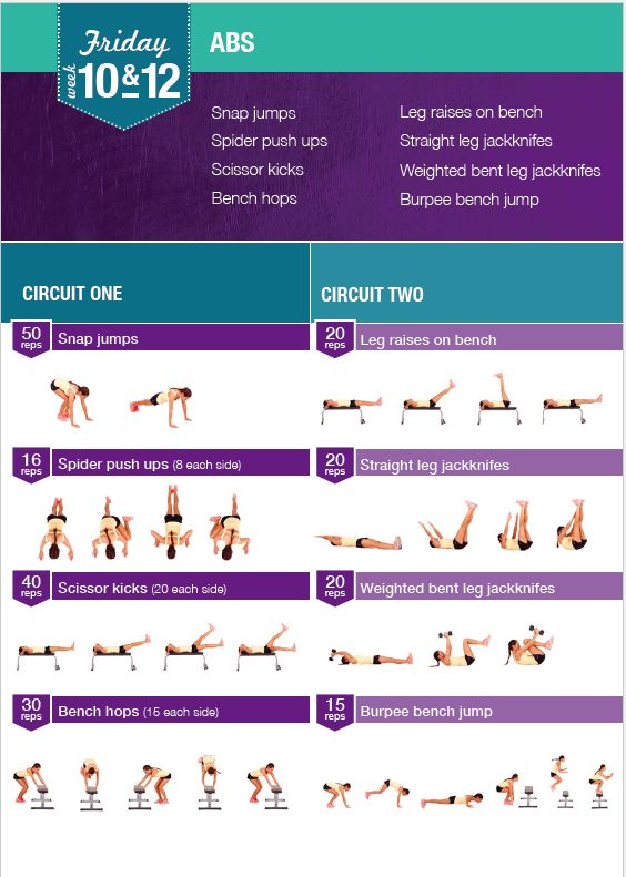 four week workout guide