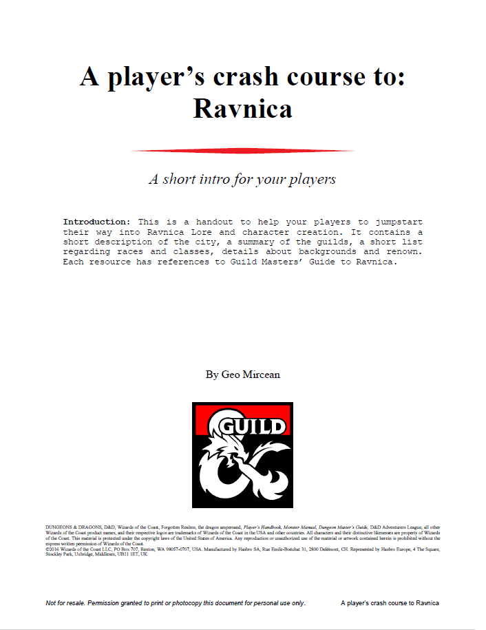 guide to ravnica pdf