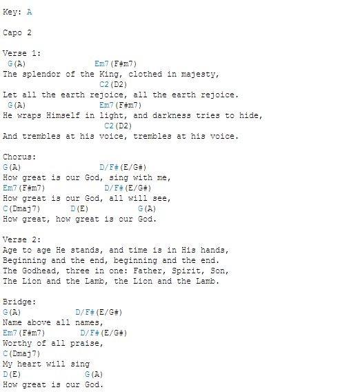 how great is our god chords pdf