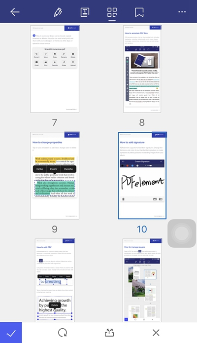 how to extract one page from pdf on iphone