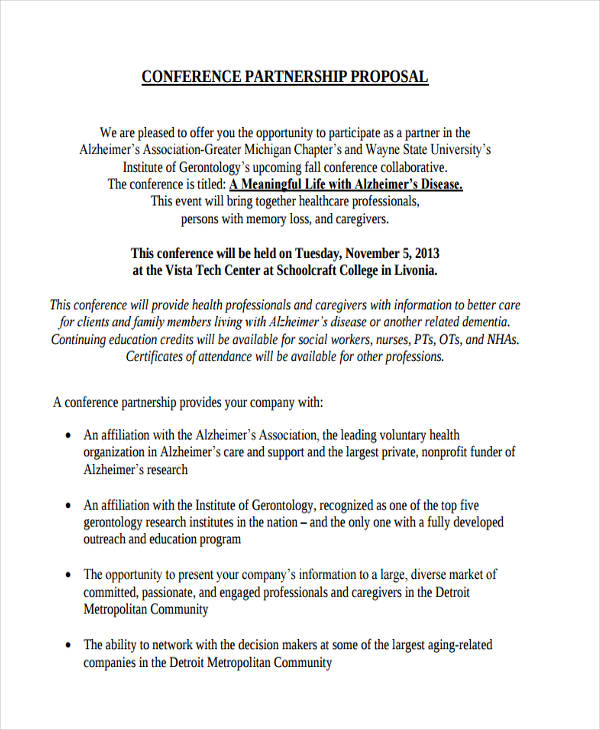 how to write a business partnership proposal letter sample
