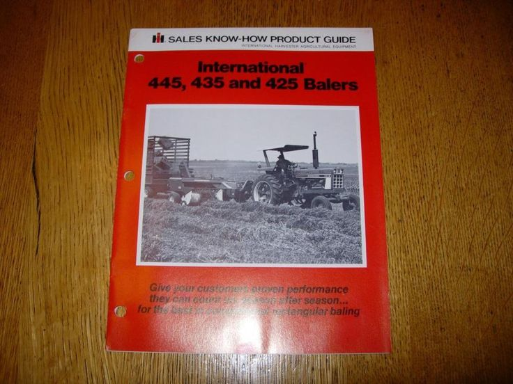 international 435 baler manual